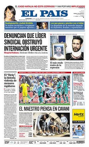 World Cup 2010 pages: El Pais, Uruguay
