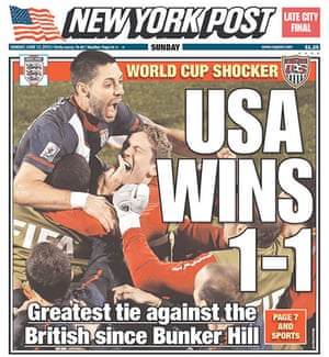 World Cup 2010 pages: New York Post, USA