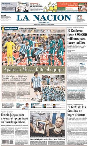 World Cup 2010 pages: La Nacion, Argentina