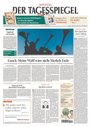 World Cup 2010 pages: Der Tagesspiegel, Germany