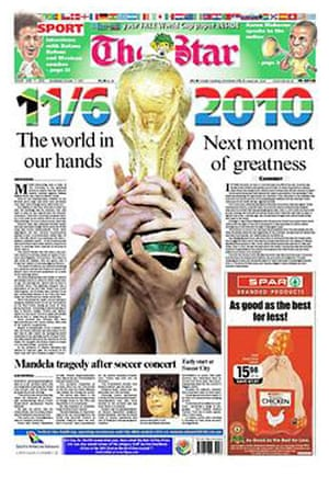 World Cup 2010 pages: The Star, South Africa