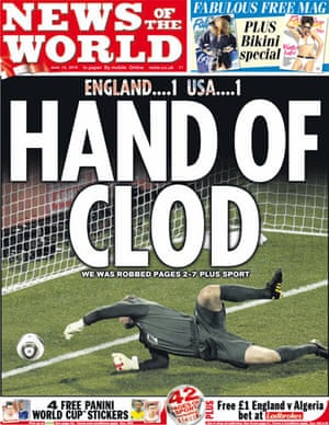 World Cup 2010 pages: News of the World, UK