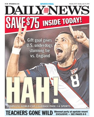 World Cup 2010 pages: New York Daily News, US