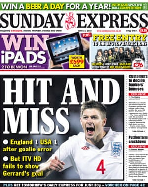 World Cup 2010 pages: Sunday Express, UK