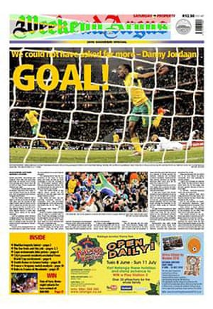 World Cup 2010 pages: Cape Argus, South Africa