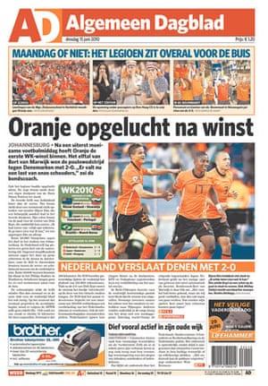 World Cup pages: Algemeen Dagblad, Netherlands