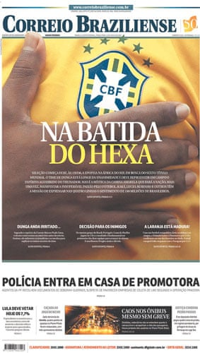 World Cup pages: Correio Braziliense, Brazil