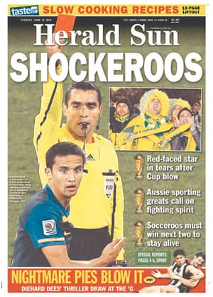 World Cup pages: Herald Sun, Australia