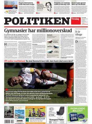 World Cup pages: Politiken, Denmark