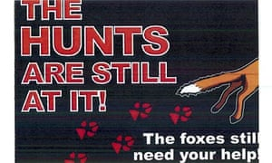 Lush anti-hunting leaflet
