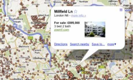 Google Maps property search
