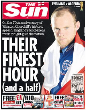 World Cup pages: The Sun, UK