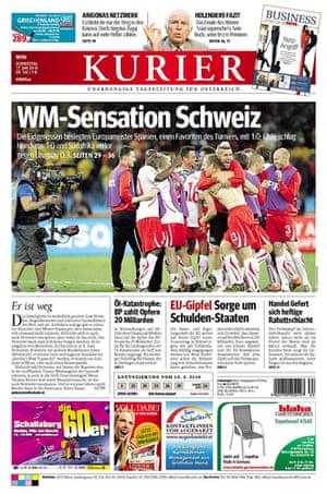 World Cup pages: Kurier, Austria