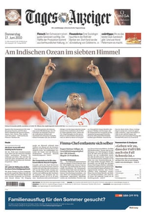 World Cup pages: Tages-Anzeiger, Switzerland