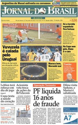 World Cup pages: Jornal Do Brasil, Brazil