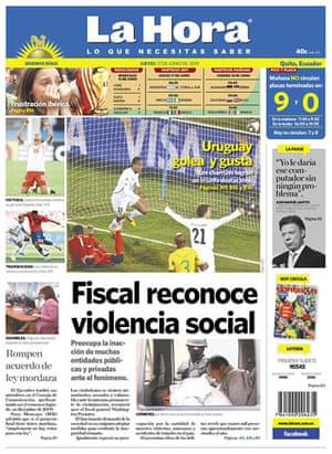 World Cup pages: La Hora, Ecuador