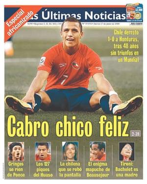 World Cup pages: Las Ultimas Noticias, Chile