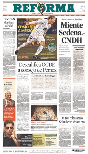 World Cup pages: Reforma, Mexico