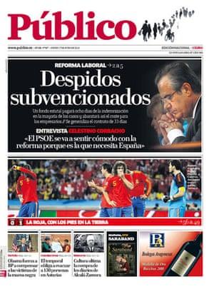 World Cup pages: Público, Spain