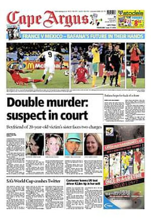 World Cup pages: Cape Argus, South Africa