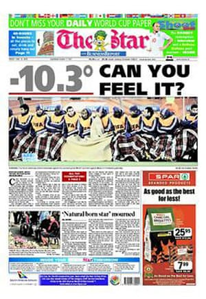World Cup pages: The Star, South Africa