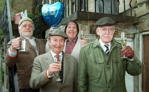 last of the Summer Wine: Compo, Nora, Clegg and Foggy mark the show's 25th birthday in 1996