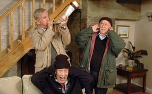 Last of the Summer Wine: Hobbo (Russ Abbot), Entwistle (Burt Kwouk) and Alvin (Brian Murphy) in 2009