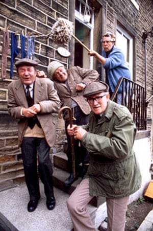 Last of the Summer Wine: Clegg, Compo, Foggy  and Nora Batty in 1982