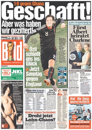World Cup 2010 pages: Bild, Germany