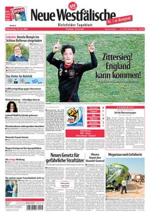 World Cup 2010 pages: Neue Westfälische, Germany