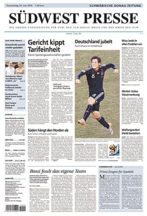 World Cup pages: Südwest Presse