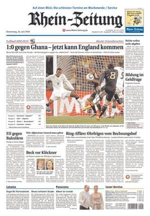 World Cup pages: Rhein-Zeitung