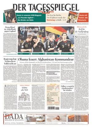 World Cup pages: Der Tagesspiegel