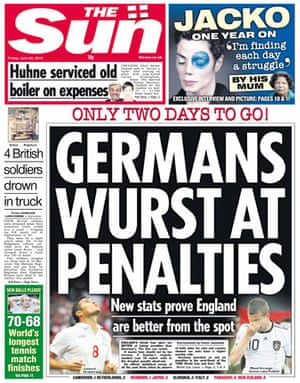 World Cup pages: The Sun