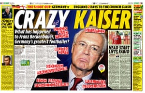 World Cup pages: Daily Mirror spread