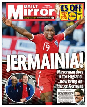 World Cup pages: Daily Mirror
