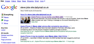 Google News indexes Daily Mail incorrect Apple story