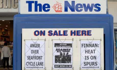 The News - Portsmouth's local newspaper.. Image shot 04/2010. Exact date unknown.