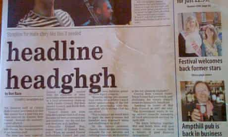 Bedford Times & Citizen blank headline