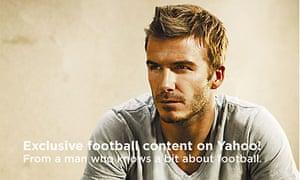 David Beckham in Yahoo ad
