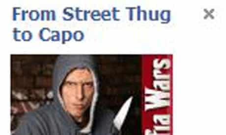 Mafia Wars Facebook ad