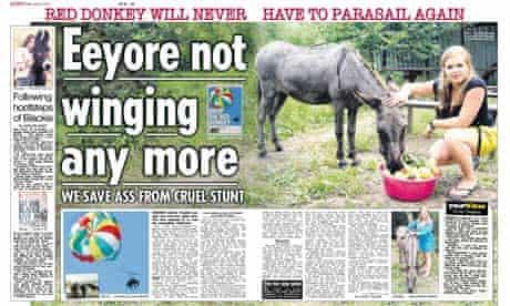 The Sun - donkey spread