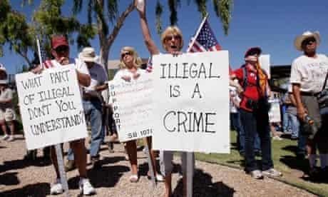 Anti-immigrant protesters Arizona