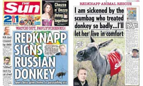 The Sun - donkey coverage