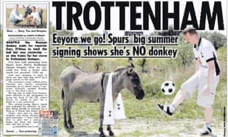 Sun 'Trottenham' headline