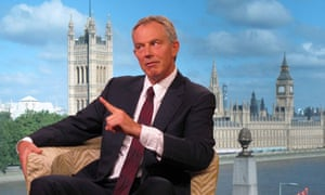 Tony Blair being interviewed by Andrew Marr