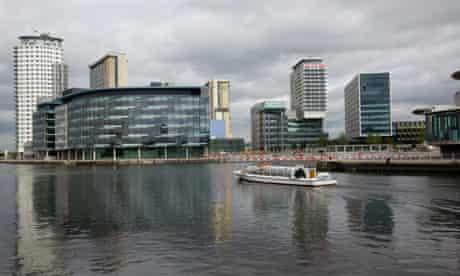 BBC headquarters complex at MediaCity, Salford Quay