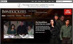 BBC Bonekickers website