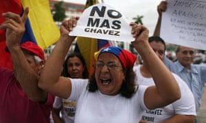Hugo Chavez protestors