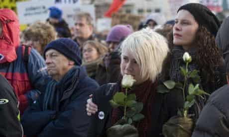 Protesters in Reykjavik, Iceland